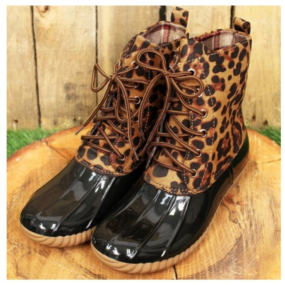 Leopard Print Duck Boots   Poshmark